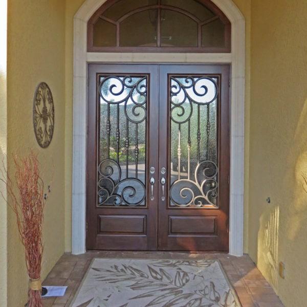 Brown Entry Double Door